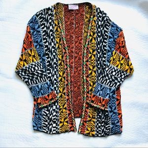 French Rags Vintage Vibrant Knit Cardigan